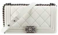 Chanel boy bag white