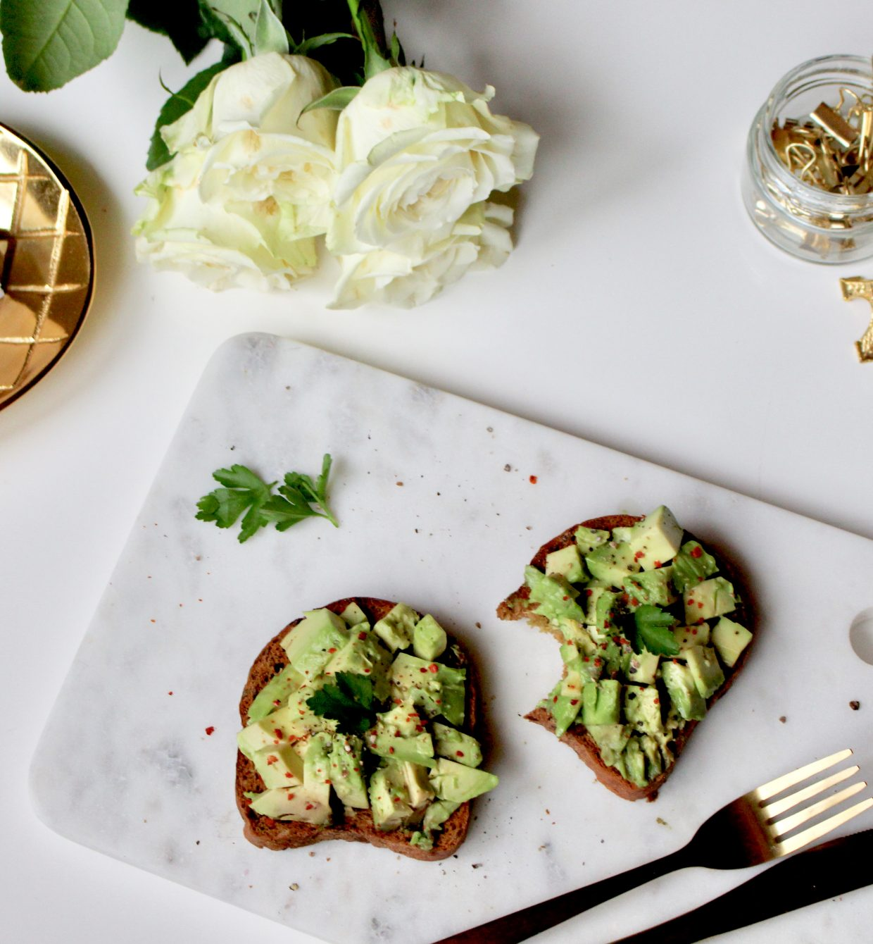 Healthy snack #Skinny avocado toast.