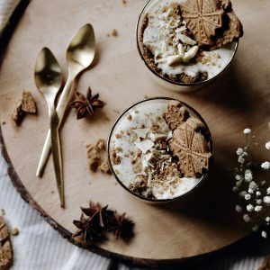 Recipe #White Chocolate Spekulatius mousse.